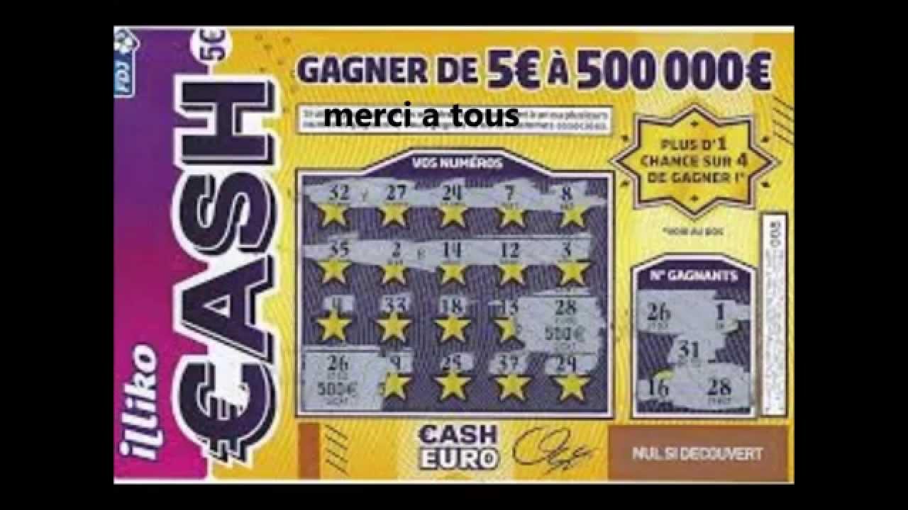 lettre gagnante cash Cash : un Drômois rafle les 500 000 € Jeux de grattage légal lettre gagnante cash